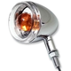 Chrome Incandescent DOT Approved/E-Marked Aluminum Body Turn Signals w/Clear Lens - 25-5313