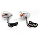Chrome Incandescent DOT Approved/E-Marked Aluminum Body Turn Signals w/Clear Lens - 25-5314