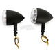 Black DOT Approved/E-Marked Aluminum Body Turn Signals w/Clear Lens - 26-5303
