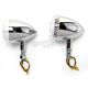Chrome DOT Approved/E-Marked Aluminum Body Turn Signals w/Clear Lens - 26-5313