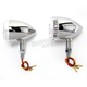 Chrome DOT Approved/E-Marked Aluminum Body Turn Signals w/Clear Lens - 26-5314
