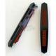 Black Anodized Aero Style Bag Lights w/Red LEDs - BL01-AB
