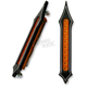 Black Night Series Tribal Style Bag Lights w/Amber LEDs - BL02-LSN