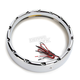 Chrome 7 in. LED Fire Ring for Factory Headlights - 08-402