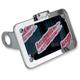 Chrome Side-Mount License Plate - LPF075HV-C