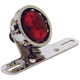 Chrome Vintage Drilled Taillight for Custom Use - 11258