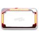 Chrome Flat Style Slick Signal License Plate Frame - CV4620