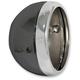 Black 7 in. Lucas Styled Headlight Shell - 66-65074