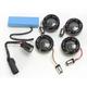 Gloss Black Bullet Ringz LED Turn Signal Kit - BTR-KIT1157B