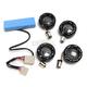 Gloss Black Bullet Ringz LED Turn Signal Kit - BTR-KIT-XL1B