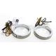 Chrome 56mm LED Wrap Around Turn Signals w/Clear Lens - WA56-CC