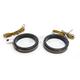 Black 56mm LED Wrap Around Turn Signals w/Smoke Lens - WA56-BS