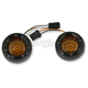 Black Bullet Ringz w/Amber LED Turn Signals  - BTRB-AW-JAE-A