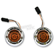 Chrome Bullet Ringz w/Amber LED Turn Signals  - BTRC-A-JAE-A