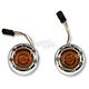 Chrome Bullet Ringz w/Amber LED Turn Signals  - BTRC-AW-JAE-S