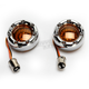 Chrome Bullet Ringz w/Amber LED Turn Signals - BTRC-A-1157-A