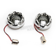 Chrome Bullet Ringz w/Red LED Turn Signals - BTRC-RR-1156-S