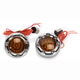 Chrome Bullet Ringz w/Red/Amber LED Turn Signals - BTRC-AR-1156-A