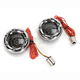 Chrome Bullet Ringz w/Red/Amber LED Turn Signals - BTRC-AR-1156-S