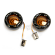 Black Bullet Ringz w/Amber/White LED Turn Signals - BTRB-AW-1157-A