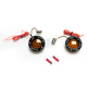 Black Bullet Ringz w/Red/Amber LED Turn Signals - BTRB-AR-1156-A