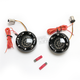 Black Bullet Ringz w/Red/Amber LED Turn Signals - BTRB-AR-1156-S