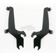 Night Shades Black No-Tool Trigger-Lock Hardware Kit to Change from Fats/Slim to Sportshield - Plates Only - MEB8816