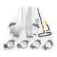 Polished Batwing Fairing Trigger Lock Hardware Kit - MEK2016