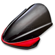 Dark Smoke Tall Naked Bike Series Windscreen w/Red Fairing Vinyl Mask - 41-508-231