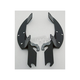 Black Batwing Plate-Only Hardware - MEK1819