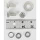 Cadmium Foot Brake Lever and Bracket Mounting Kit - 9733-7
