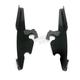 Black Batwing Plate-Only Hardware - MEK1855