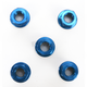 Blue Aluminum Sprocket Nut for Ducati 5-Bolt Hubs - DSN5BL