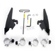 Black No-Tool Trigger-Lock Hardware Kits for Batwing Fairing - MEB2008
