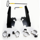 Black No-Tool Trigger Lock Hardware Kit for Memphis Fat/Slim Windshield - MEB2005