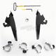 Black No-Tool Trigger-Lock Hardware Kits for Batwing Fairing - MEB2004