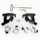 Black No-Tool Trigger Lock Hardware Kit for Cafe Fairing - MEB2003