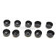 Black 1/2 in. Hex Bolt/Nut Covers - 2402-0157