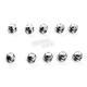 Chrome/Black Diamond-Cut Crown Bolt Cap Set - 70009