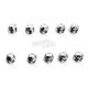 Chrome/Black Diamond-Cut Crown Bolt Cap Set - 70010