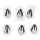 Chrome/Black Fluted Spike Bolt Cap Set - 70012
