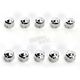 Chrome Diamond-Cut Crown Bolt Cap Set - 70020