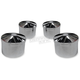 Chrome Round Head Bolt Covers - HBC-302-CH