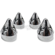 Chrome Spike Head Bolt Covers - HBC-303-CH-SPK
