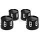 Black Gatlin Head Bolt Covers - HBC-305-ANO-GAT