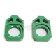 Green Kawasaki Axle Block  - 17-129