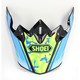Teal/White/Yellow Visor for VFX-W Turmoil TC-2 Helmets - 0245-6089-02