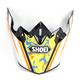 Black/White/Orange/Yellow Visor for VFX-W Turmoil TC-8 Helmets - 0245-6089-08