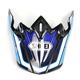 Blue/White/Black Visor for VFX-W Capacitor TC-2 Helmets - 0245-6090-02