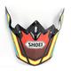 Red/Yellow/Blue/Black Visor for VFX-W Capacitor TC-3 Helmets - 0245-6090-03